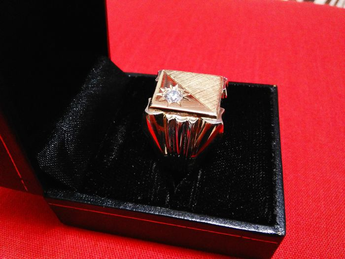 Ring - Bicolour, Gold, White gold - Natural (untreated) - 25 ct - Diamond