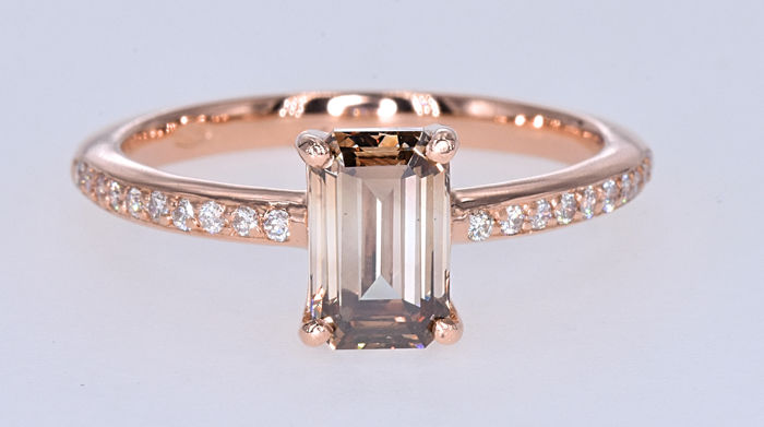 Ring - Pink gold - 1.4 ct - Diamond and Diamond
