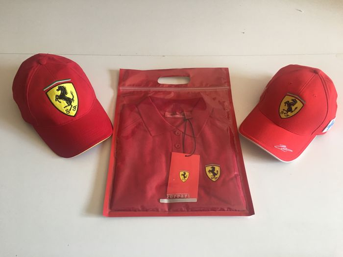 Polo y 2 Gorras - FERRARI  - 2006 (3 items)