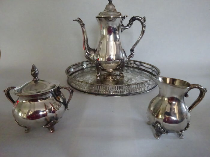 Coffee set, 4 pieces - Set - silver plated - the cutlers compagnie 1836