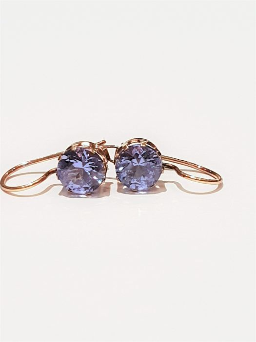 Earrings - Gold - 1.3 ct - Topaz
