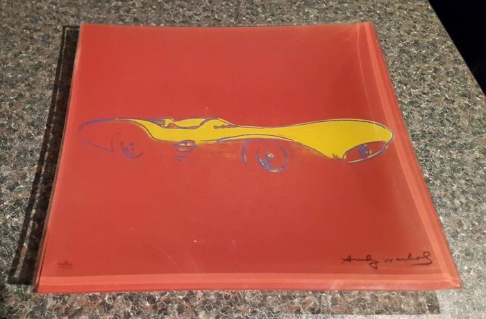 Andy Warhol - Rosenthal Studio Line - Mercedes Red Glass Plate