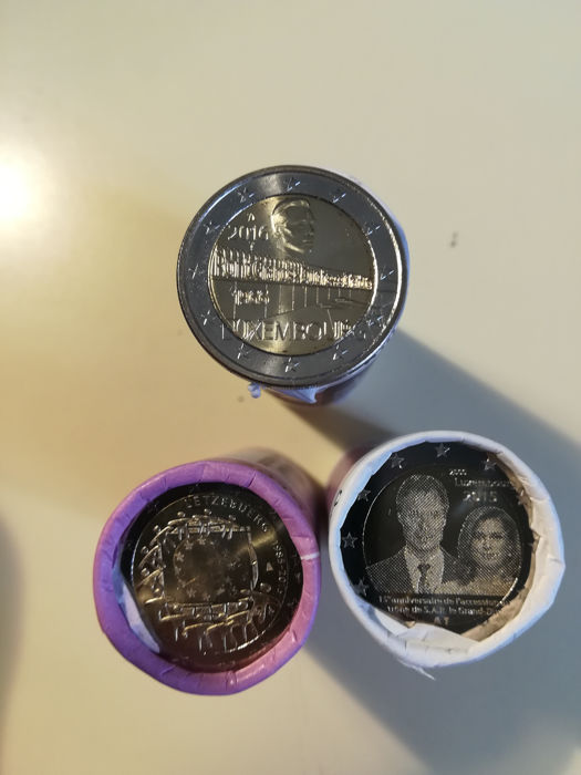 Luxembourg - 3 x Roll of 2 Euro (25 pieces),  2015/2016