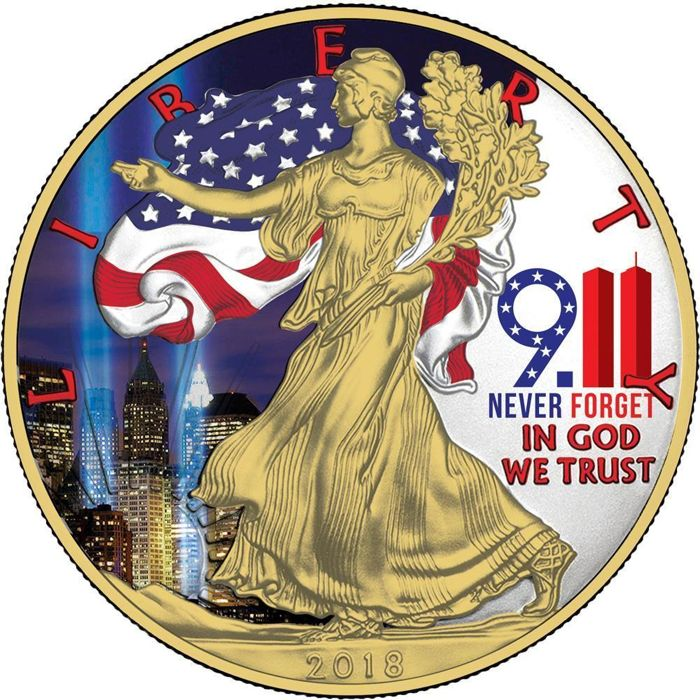 USA - 1 Dollar 2018 - Liberty Silver Eagle '9.11 Never Forget' - 1oz - Silver
