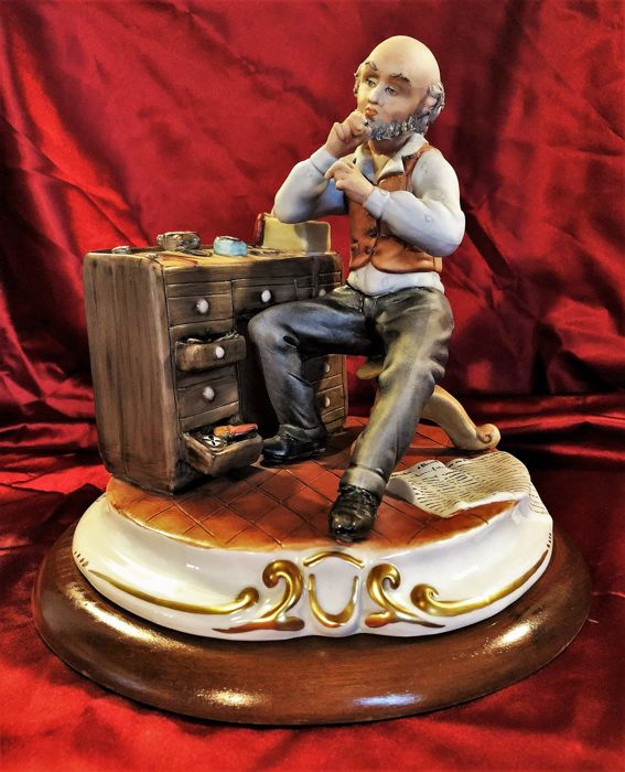 A. Callè - Watchmaker Of Other Times - Porcelain Capodimonte