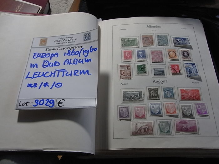 Europe 1850/1960 - In particular, East and southeastern Europe very good vertegenwoordigd, in dik Leuchtturm-album.