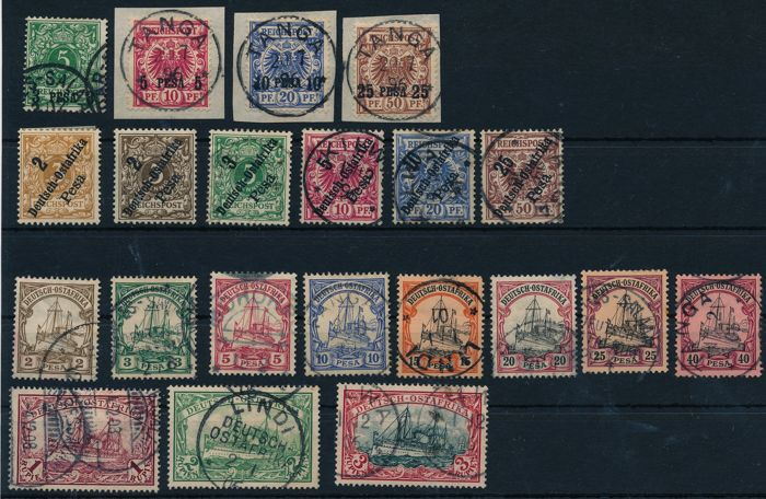 German East Africa 1893/1920 - Complete collection on Michel stock cards No. 2 - 39