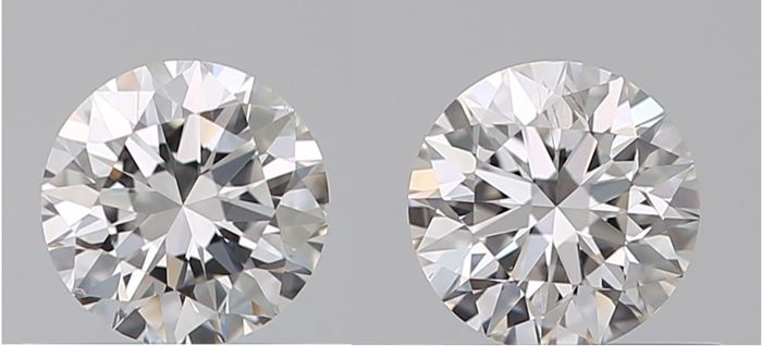 Pair - Round Brilliant 0.8ct total F SI1 GIA - # 469-470