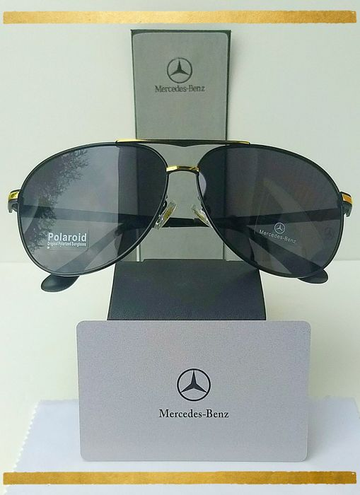 a80e3ba49fb Mercedes Benz Aviator Black-Gold -