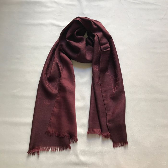 Gucci Wool and silk scarf