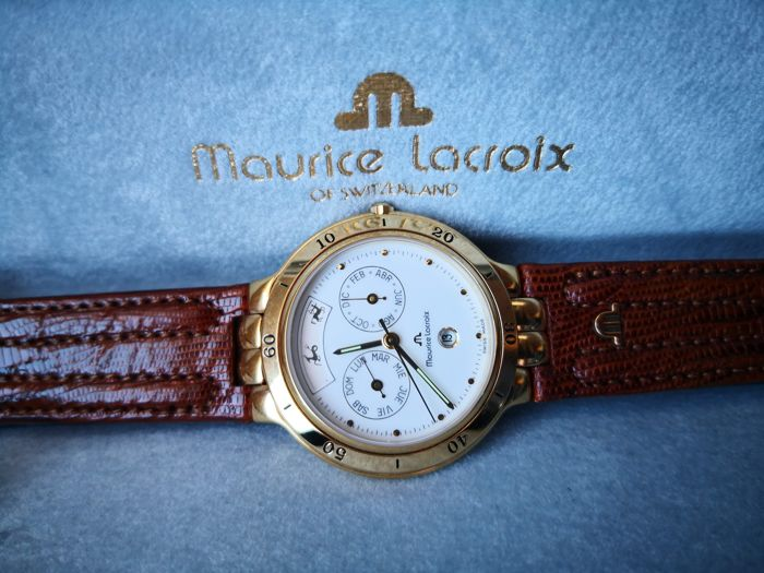 Maurice Lacroix - classic gold electroplated G 10 day date watch - Men - 2000-2010 Watches for sale