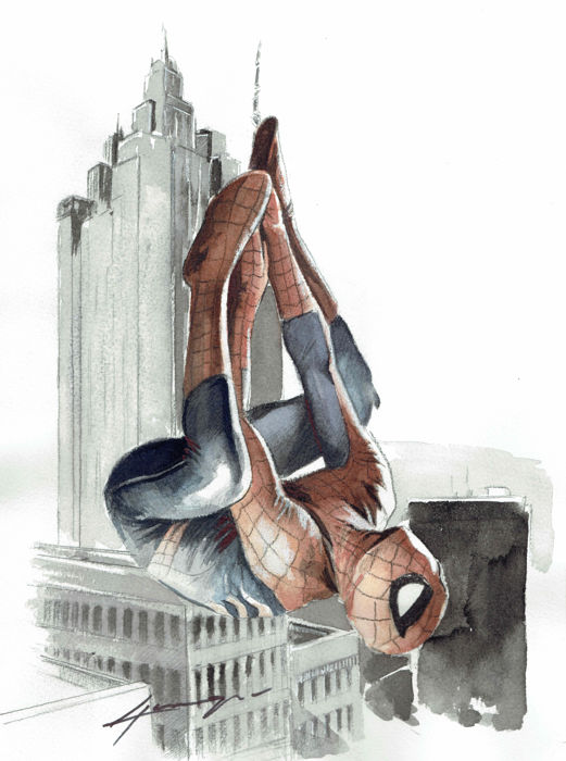 Spiderman - Original Painting - Daniel Azconegui - First edition