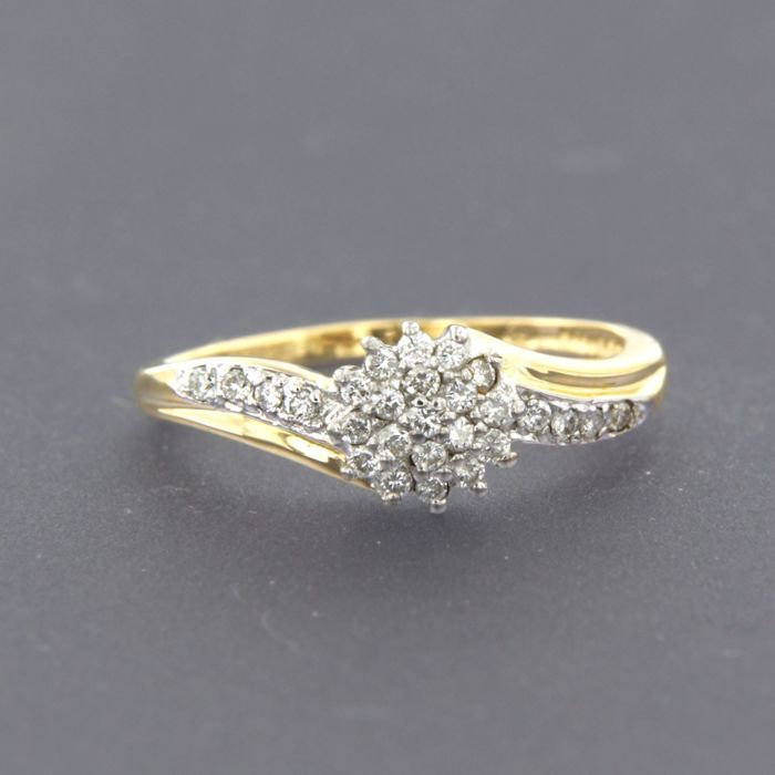 Anillo - Oro, Oro blanco - 0.2 ct - Diamante