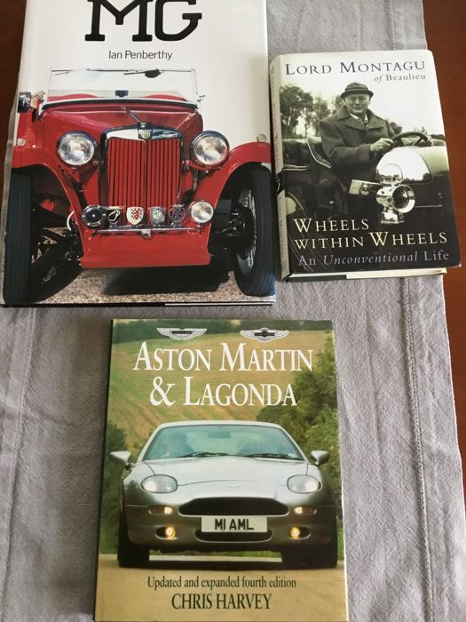 Books - MG and lord Montagu (Beaulieu) and Aston Martin - 1991-2000 (3 items)