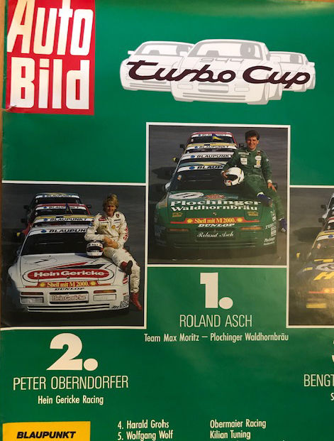 official porsche poster - 1987 Porsche Turbo Cup original Poster  - 1987-1987 (1 objetos)