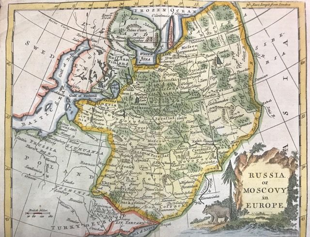Map Of Europe 1780.Russia Central And Eastern Europe Thomas Kitchin Russia Or