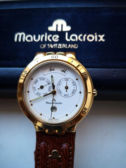 Maurice Lacroix - classic gold electroplated G 10 day date watch - Heren - 1990-1999