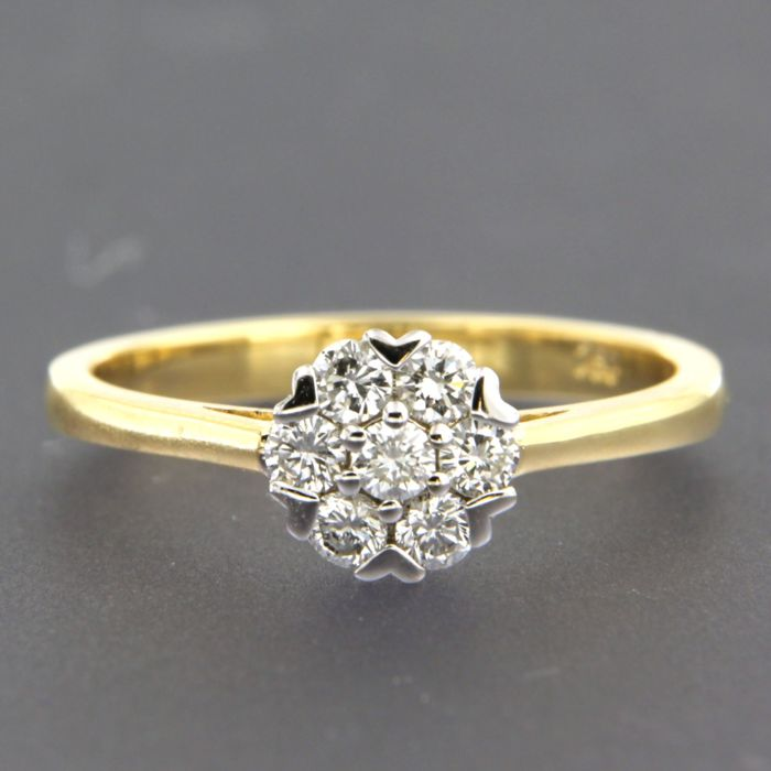 Ring - Gold, White gold - 0.38 ct - Diamond