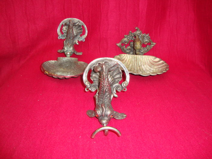 WC - Hanging Items - Group of 3 - Silver plated - Italy