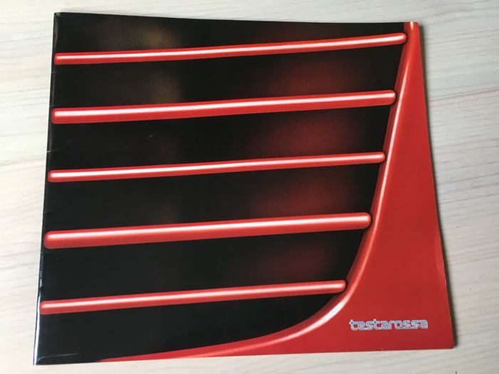 Brochure / Catalogus - Ferrari Testarossa Brochure--English/German/French - 1984-1992