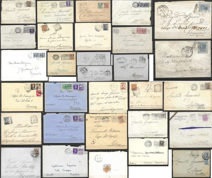 Italy Kingdom - 27 covers 1 letter 2 dust jackets  - Sassone various