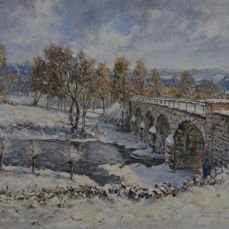 Chris van Dijk (1952) - 'Bridge in Winter'