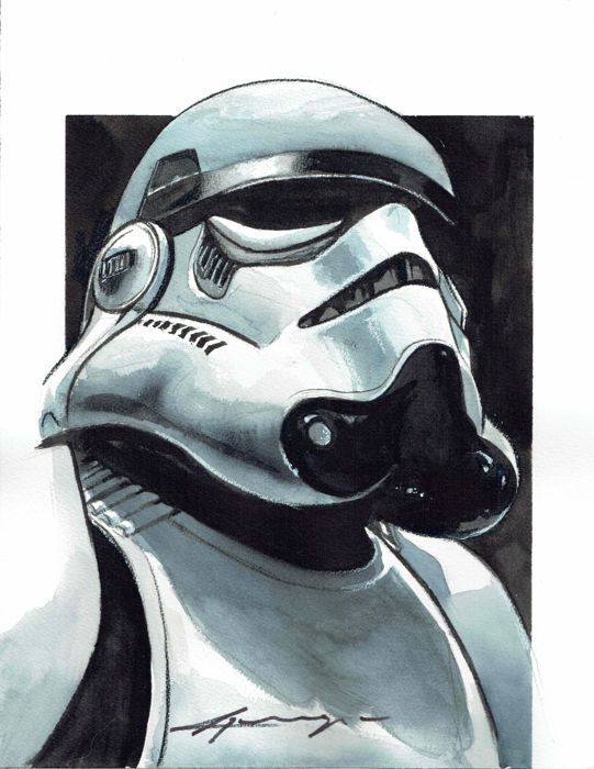 Stormtrooper - Star Wars - Original Painting - Daniel Azconegui - First edition