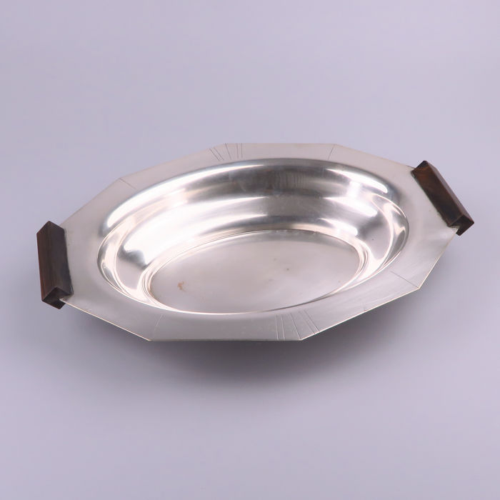 Roux Marquiand ? - ART Deco silver plated brass fruit bowl