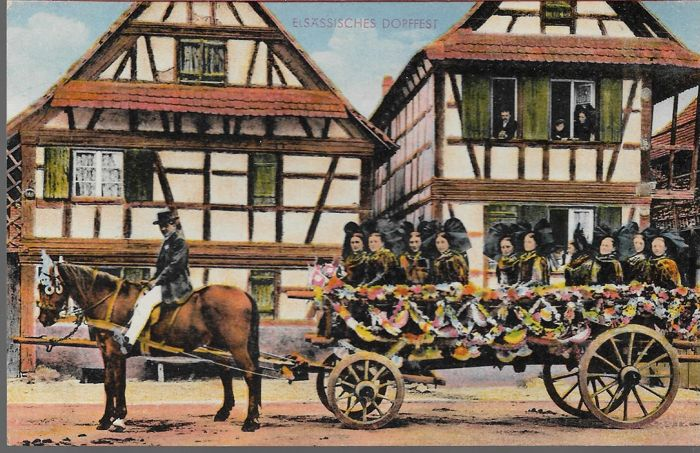 Lot of 600 old postcards of France and Europe, various themes