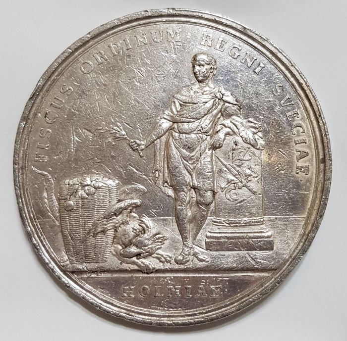 Suède - Medal 1768 'Adolf Friedrich Commemorative First Jubilee of Bank of Stockholm' by Gustav Ljungberger - Argent