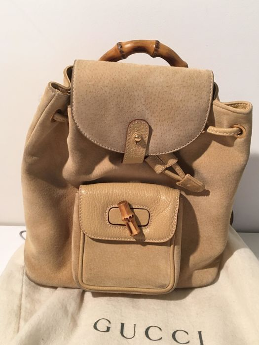 2ba02acd005 Gucci - Bamboo backpack - Catawiki