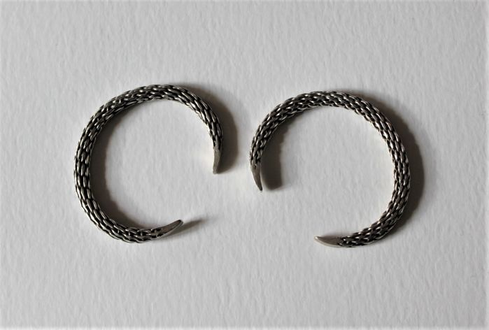 Two silver bracelets - Akha, North Thailand - mid-20th century