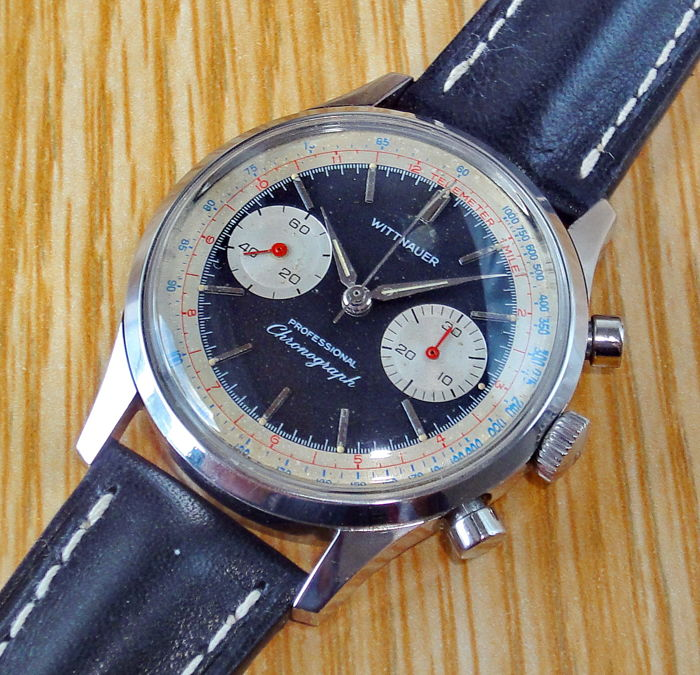 """Wittnauer - Professional Chronograph 8023 - """"NO RESERVE PRICE"""" #gift2018 - 14Y 17 jewels (Landeron 248) - Hombre - 1960-1969"""