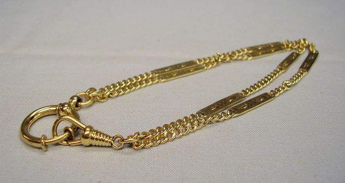 Art Deco Watch Chain - Gold-plated