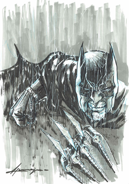 Batman 's Fist - Original Drawing - Daniel Azconegui - First edition