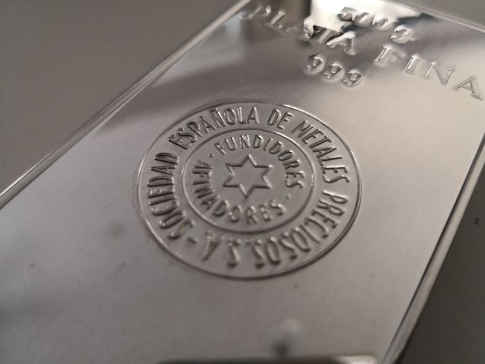 500 gr Fine Silver 999,9 Bullion Bar  Certificate by LBMA