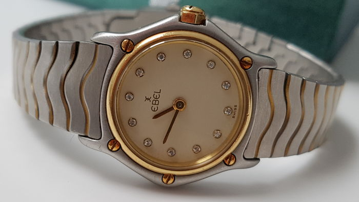 Ebel -  Sport Classique with 12 diamonds on dial - Dames - 2011-heden