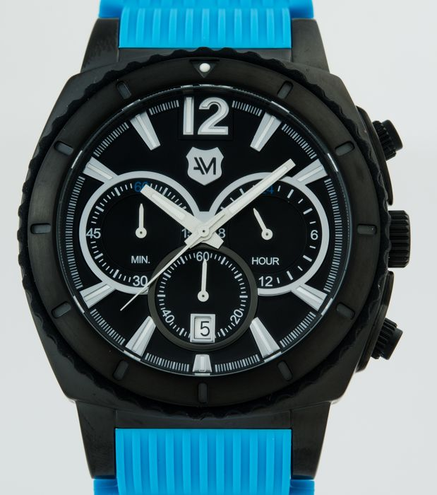 Andrew Marc - Sporty Men's black PVD chronograph watch - AM10012 - Homem - 2011-presente