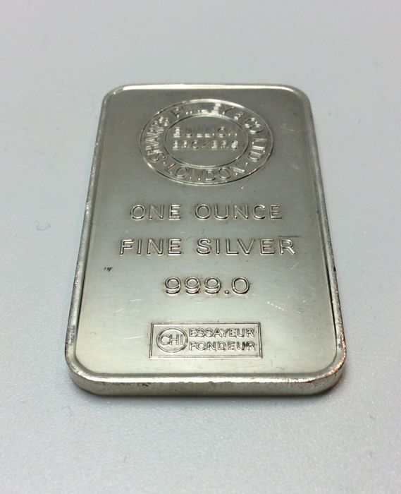 Sharps Pixley & Co L.T.D - one ounce - 999/1000 - Minted silver bar