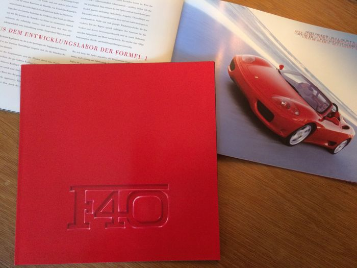 Brochures/ Catalogues - Ferrari - F40 en 360 Spider - 1988-2000 (2 items)