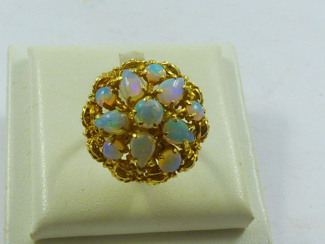 Ring - Gold - Natural (untreated) - 5 ct - Opal