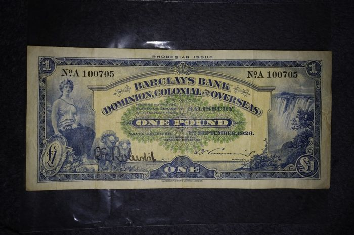 Rhodesia - Barclays Bank 1 Pound 01-09-1926 - Pick S 112a - Catawiki