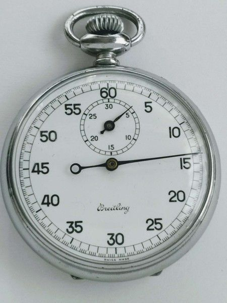 Breitling - fine all original stopwatch from 1951 enamel dial - Men - 1950-1959