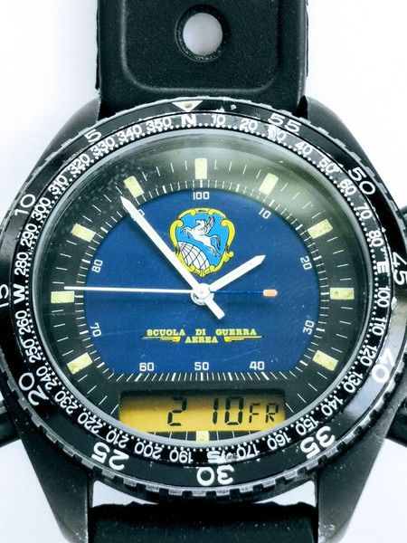 """Breitling for DPW - Militare limited """"Scuola di Guerra """" black steel - Homme - 1980-1989"""