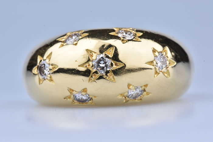 Ring - Gold - Diamond and Diamond