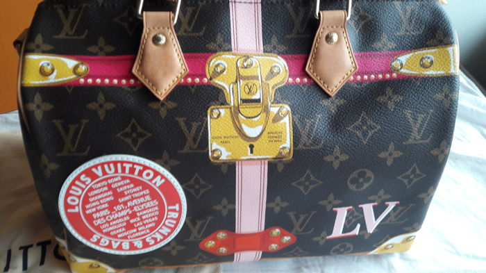 2b0bccbea09a Louis Vuitton - Speedy 30 Summer Trunks Limited Edition 2018 Handbag