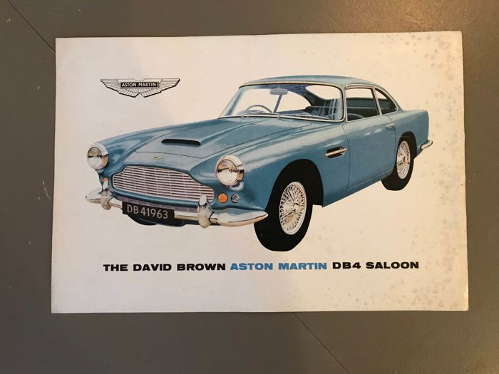 Brochures / Catalogues - Aston Martin  - 1963-1964 (1 objets)