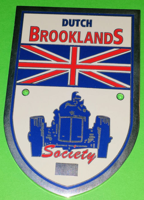 Decorative object - Auto Grille Badge - Dutch Brooklands Society - 1999