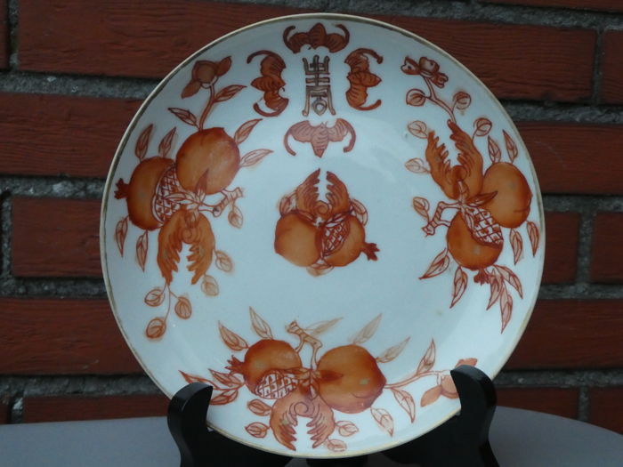Decorated plate - China - 19th century