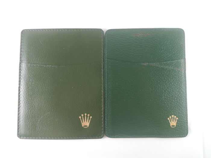 Rolex - 2pcs Green Holder Wallet 0101.40.05 / 101.40.55 - Unisex - 1980-1989
